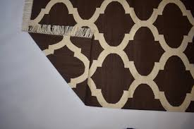 flat woven cotton large area rug