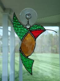 easy hummingbird stained glass