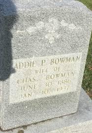 Addie Kerner Proctor Bowman (1886-1937) - Find A Grave Memorial