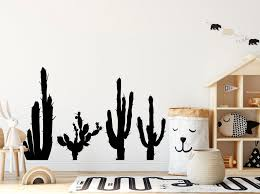 Cactus Wall Decal Floral Wall Stickers Cactus Wall Decor Etsy In 2020 Floral Wall Sticker Cactus Wall Decal Wall Decals