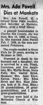 Obituary for Ada Powell (Aged 92) - Newspapers.com