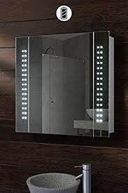 battery led illuminated bathroom mirror