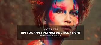 tips for applying face and body paint