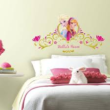 Disney Frozen Spring Time Personalized Wall Decals Roommates Decor