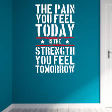The Pain You Feel Today Home Gym Motivational Wall Decal Quote Fitness Strength Workout Wall Stickers Wall Art For Kids Rooms Art For Kids Wall Artwall Decals Quotes Aliexpress