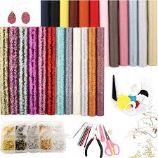 24 colors leather earring making kit 4