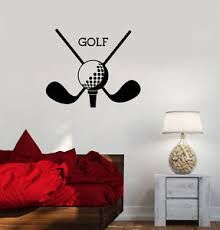 Vinyl Wall Decal Golf Club Sport Putters Ball Stickers Mural Ig3314 Ebay