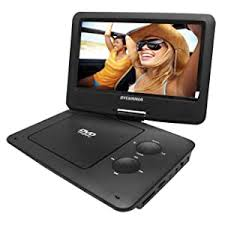 Amazon Com Sylvania 9 Inch Swivel Screen Portable Dvd Cd Mp3 Player With 5 Hour Built In Rechargeable Battery Usb Sd Card Reader Ac Dc Adapter Electronics
