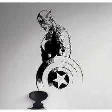 Captain America Vinyl Decal Superhero Wall Sticker Marvel Comics Decor 63 Nse