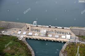 aerial, pump generating Station, Sir Adam Beck Reservoir, Ontario Stock  Photo - Alamy
