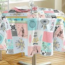 customized round oilcloth tablecloth