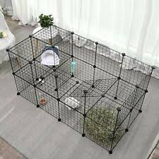 Dog Playpen 36 Panels Cat Cage Bunny Fence Kennel Rabbit Pet Exercise Pen For Sale Online Ebay
