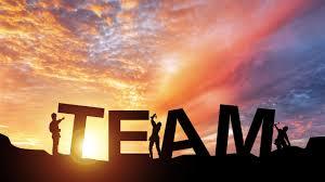 teamwork sunset poster creative design