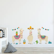 1 Pc 3 Styles Cartoon Llama Animals Alpacas Wall Stickers Sheeps For Kids Rooms Nursery Wall Decor Home Decor Diy Poster Wall Stickers Aliexpress
