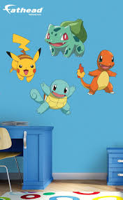 Like All Fathead Wall Graphics The Pokemon Favorites Collection Provides An Impressive Decorating Solution T Pokemon Room Kids Room Wall Decals Kids Room Wall