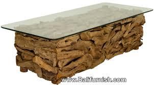 teak root wood coffee table furniture