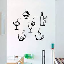 Drinks Decor Alcohol Glasses Bottlefood Wall Decal Window Etsy