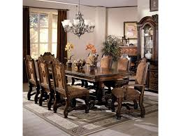 Crown Mark Neo Renaissance Double Pedestal Dining Table And Chairs With Traditional Upholstered Seats Royal Furniture Dining 7 Or More Piece Sets