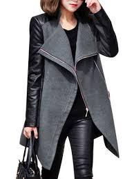 long sleeve fashion womens pea coat