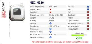 The phone's data to your site NEC N920 ...