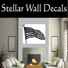 American Flag American Pride Ns001 Wall Decal Wall Sticker Wall Mural Swd