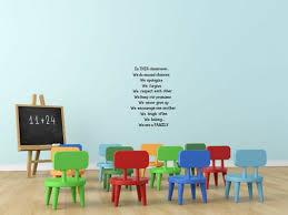 In This Classroom School Teacher Vinyl Decal Wall Decor Sticker Black Or White For Sale Online Ebay