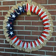 diy clothespin wreath perfect for 4th