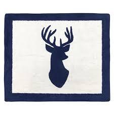 Boys Accent Floor Rug Bedroom Decor For Navy And White Woodland Deer Kids Bedding Collection Walmart Com Walmart Com