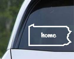 Pennsylvania Home State Outline Pa Usa America Die Cut Vinyl Decal Sticker Decals City