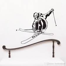 Extreme Speed Skiing Game Wall Stickers Kids Bedroom Vinyl Wall Decals Home Decor Sports Sticker Adhesive Decorative Stickers Decorative Stickers For The Wall From Moderndecal 10 5 Dhgate Com