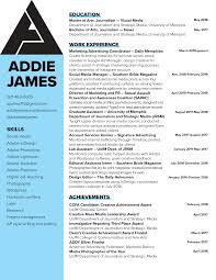 Resume – ADDIE JAMES