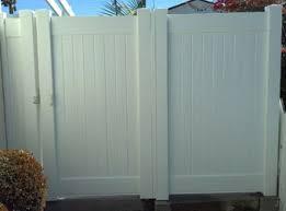Custom Vinyl Fence Gate Contractor Los Angeles County Ca Privacy Semi Private Picket Ranch Rail