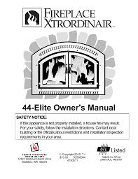 44 elite owner s manual