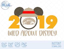 SVG Animal Kingdom 2019 Mickey Mouse Ears Wild About Disney