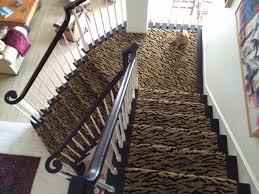 stair runner animal print carpet