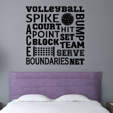 Zoomie Kids Volleyball Sports Wall Decal Wayfair