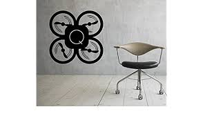 Amazon Com Drone Uav Wall Decal Vinyl Sticker Interior Housewares Design Removable Home Decor 2drn Kitchen Dining
