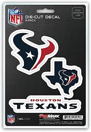 Amazon Com Nfl Houston Texans Team Decal 3 Pack Sports Outdoors
