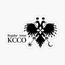 Regular Army Kcco Black Insignia Sticker By Supanerd01 Redbubble