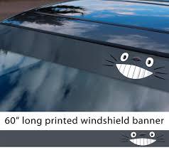 Buy 60 My Neighbor Totoro Manga Anime Studio Ghibli Japan Made Funny Sun Strip Printed Car Vinyl Sticker Decal