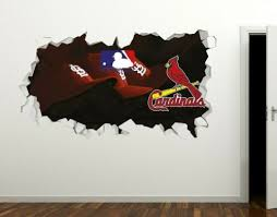 St Louis Cardinals Baseball Mlb Custom Vinyl Wall Decals Peel Stick Ori673 Ebay In 2020 3d Wall Decals Custom Vinyl Wall Decals Wall Decal Sticker