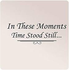 Amazon Com 32 X12 In These Moments Time Stood Still With Embellishment Wall Decal Picture Decor Wedding Birth Words Sticker Vinyl Family Home Kitchen
