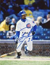 LANCE JOHNSON 1 DOG ACTION CHICAGO CUBS SIGNED AUTOGRAPHED 8x10 PHOTO W/COA  at Amazon's Sports Collectibles Store