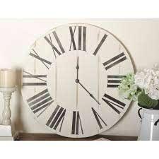 oversized wooden farmhouse wall clock