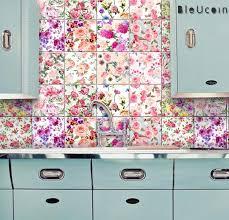 English Rose Kitchen Bathroom Backsplash Tile Wall Decal Etsy