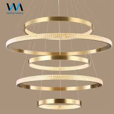 rings crystal circular led big round