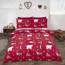 winter animals brushed cotton bedding