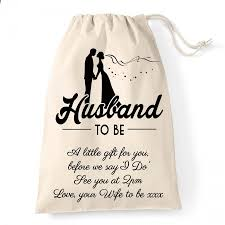 personalised wedding gift bag for the