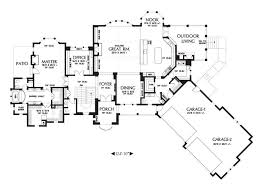 spacious 4 car garage house plans that