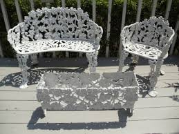 patio furniture settee chair planter